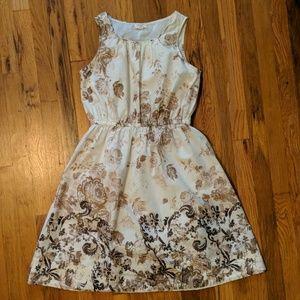 Lands End Floral Cotton Dress